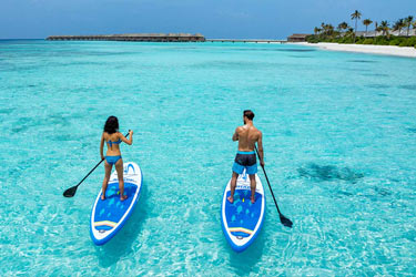 Paddle boarding in Maldive