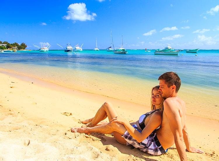 Plaja in  Mauritius