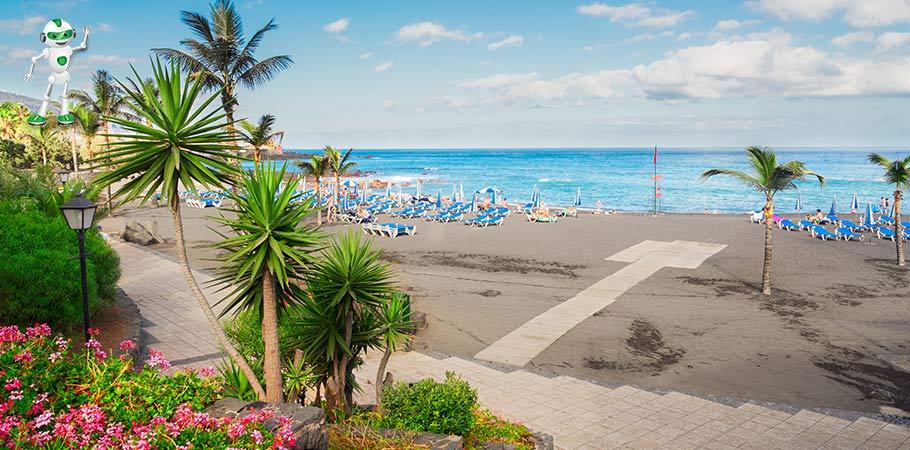 Plaja din Puerto de la Cruz