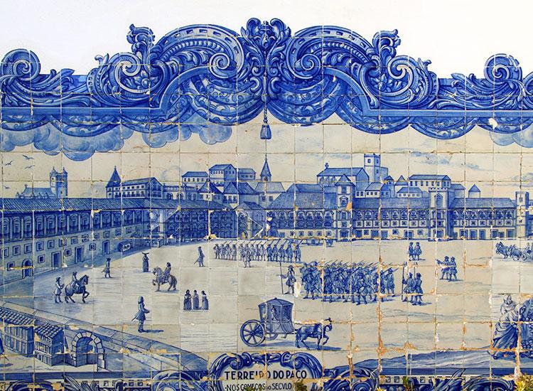 azulejos din Muzeul Național al Placilor Ceramice