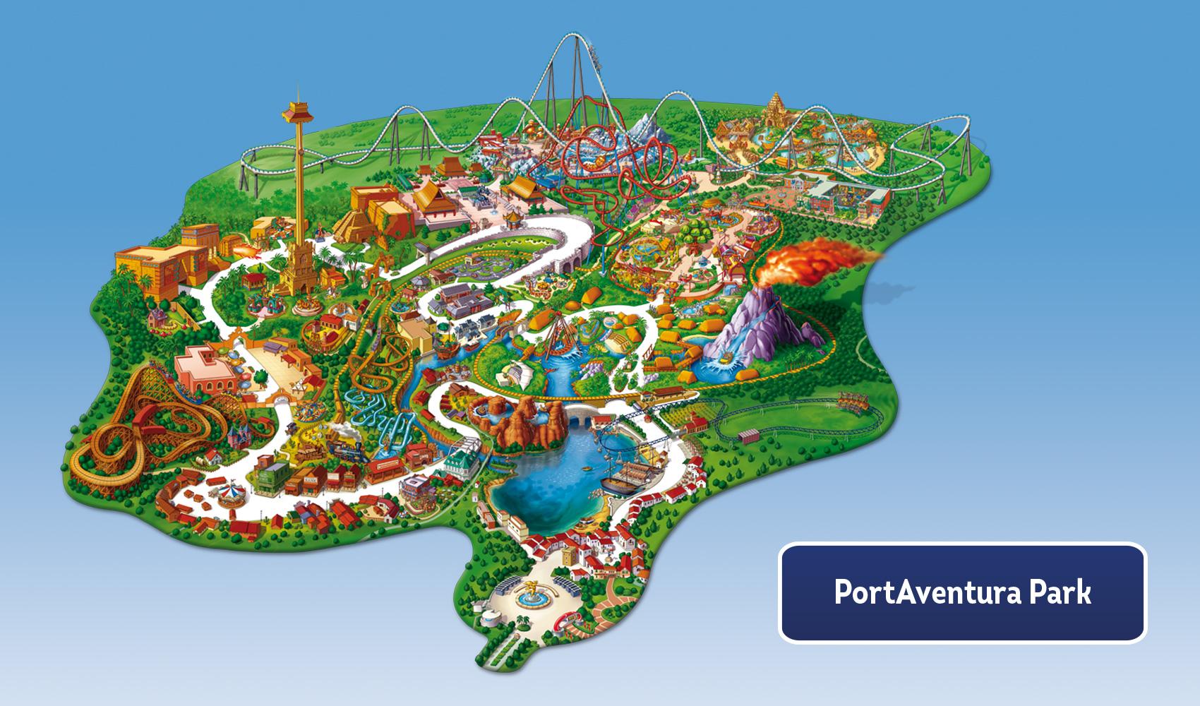 Harta PortAventura Park
