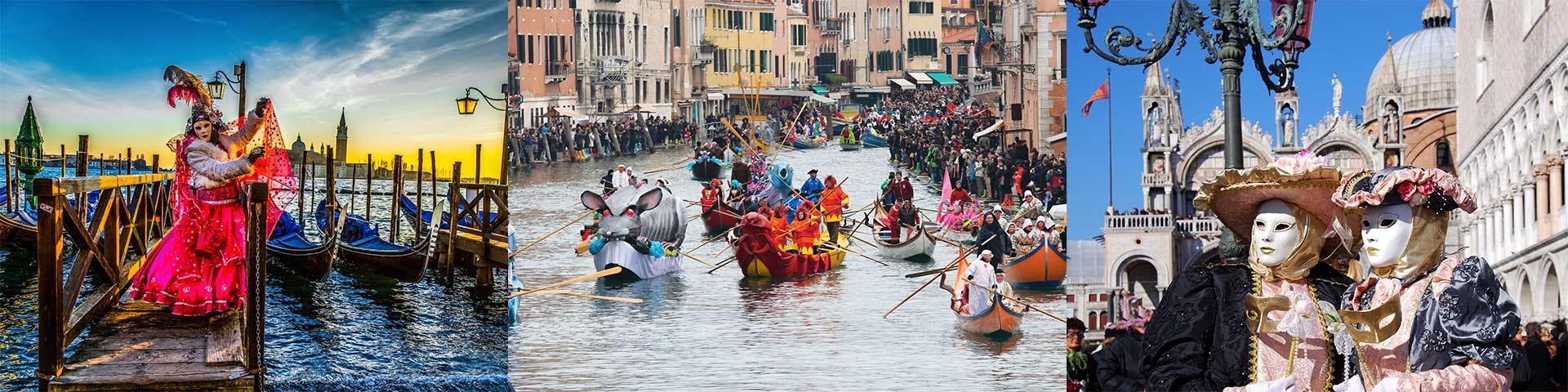Imagini cu Carnavalul Venetian de pe strazile din Venetia